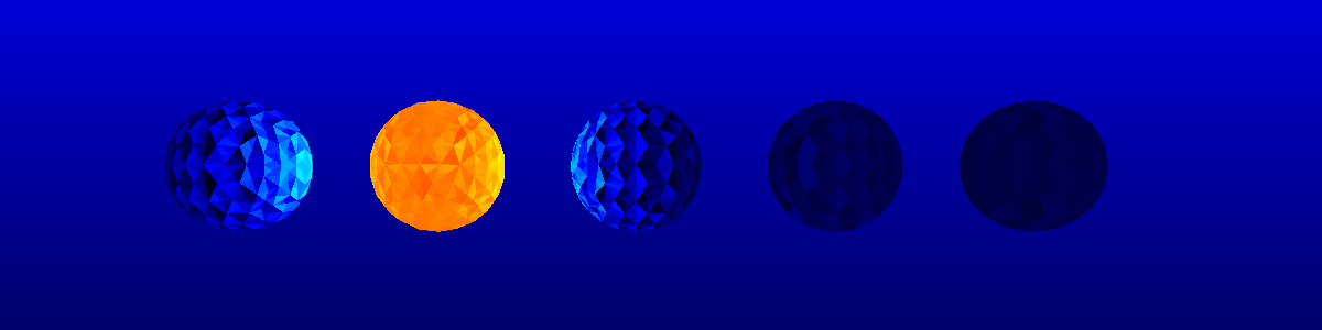 Array of spheres